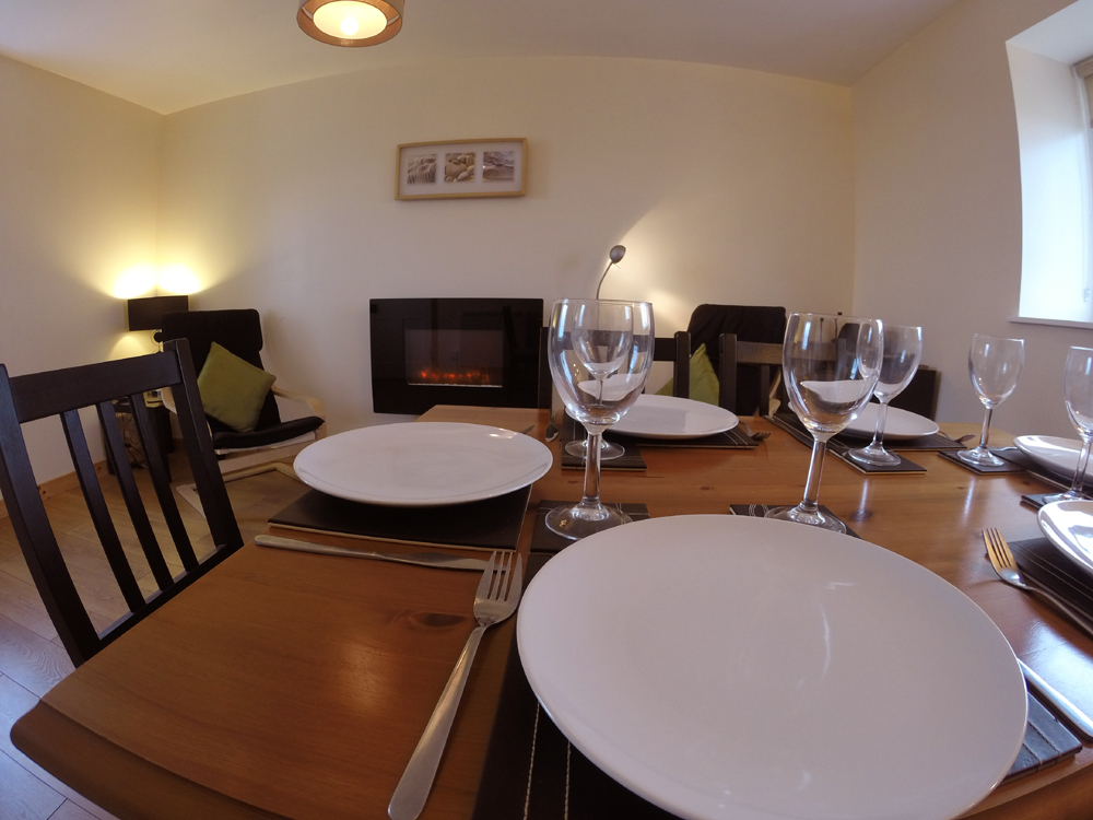 Dining room at Machair Cottage