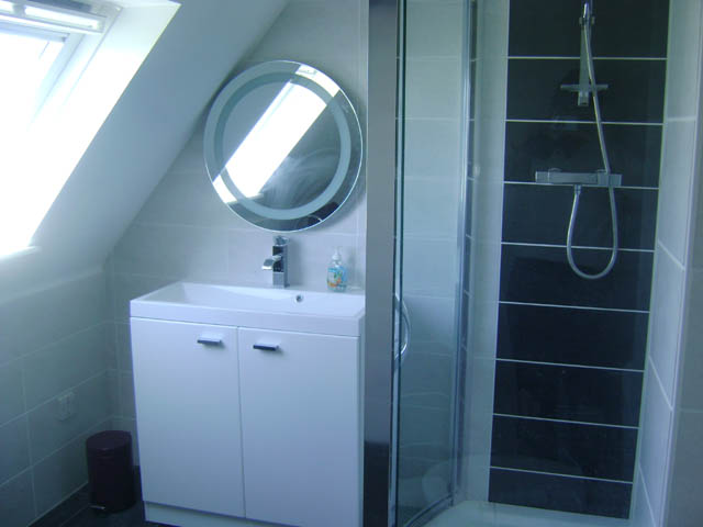 Bathroom at Machair Cottage, Heanish, Tiree