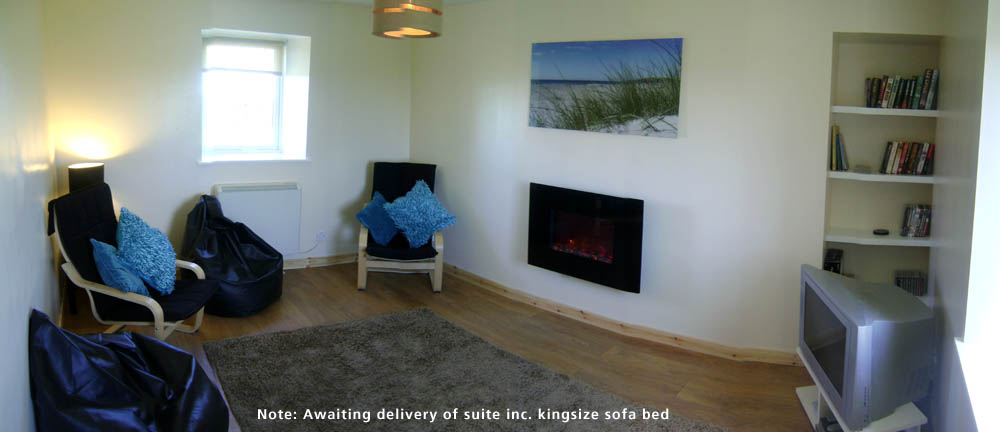 The lounge at Machair Cottage, Heanish, Tiree