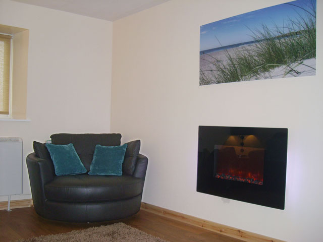 Lounge at Machair Cottage, Heanish, new suite