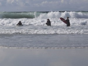 Catching the surf on Tiree
