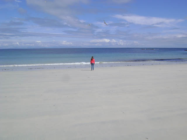 The beach 150 yards from the holiday cottage