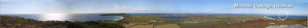 View of Tiree and scottish holiday cottages