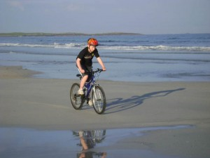 Scottish holidays spent cycling on the beach
